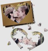 Personalised Heart Photo Jigsaw