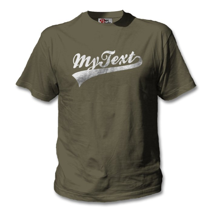 t shirt with custom baseball text classic design your