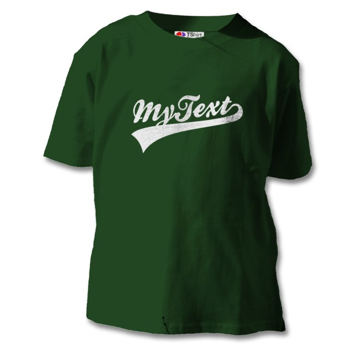 kids t shirt with custom baseball text classic