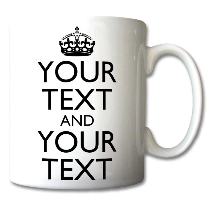 Personalised keep calm mug classic personalised mugs Design your own mugs uk