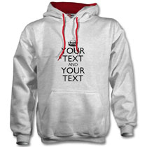 Grey Hoodie with keep calm design