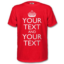 Personalised keep calm t shirts make your own keep calm for Design your own logo for t shirts
