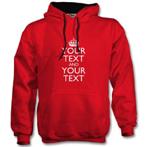 Red Hoodie with keep calm design