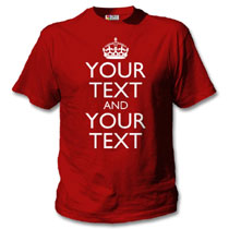 Red T-Shirt with keep calm design