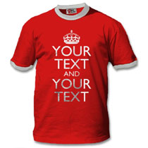 Ringer T-Shirt with keep calm design