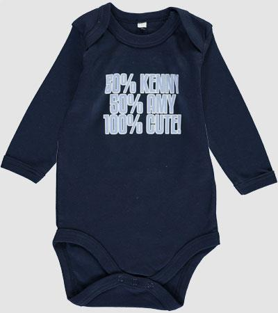 Personalised Long Sleeve Baby Grows