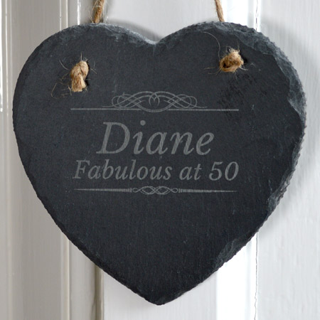 Slate Heart Wall Hanging