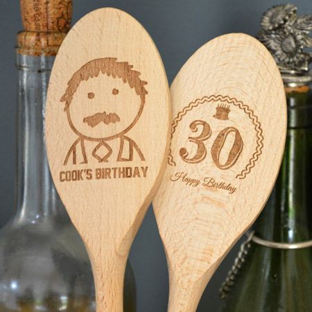 Engraved Wooden Spoon