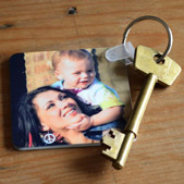 Square Photo Keyring