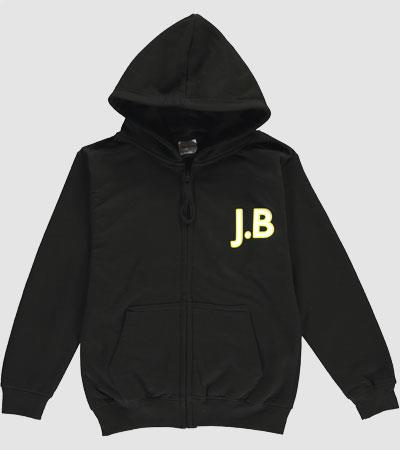 Personalised Kids Zip Hoodies