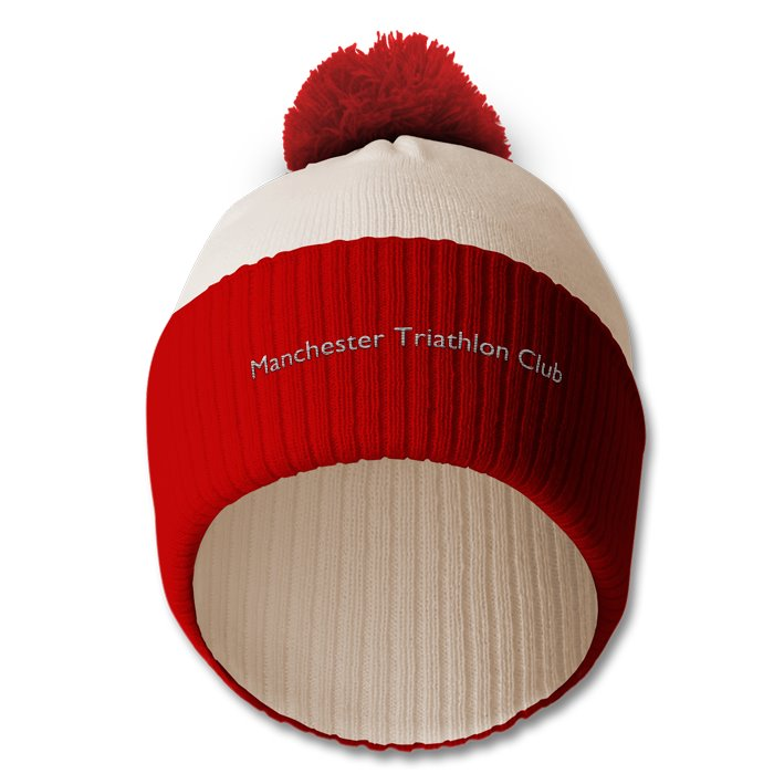 MTC bobble hat white / red