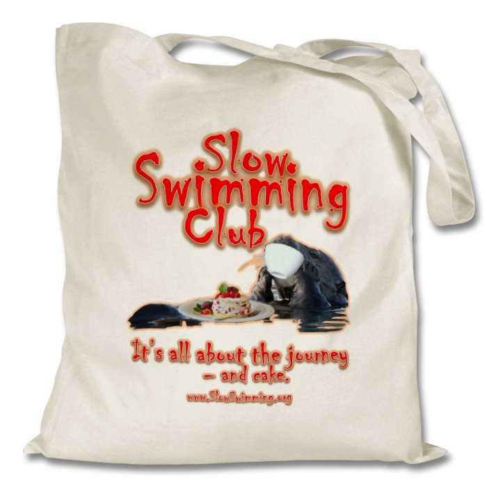 Slow Swimming Club re-usable cotton shopping bag