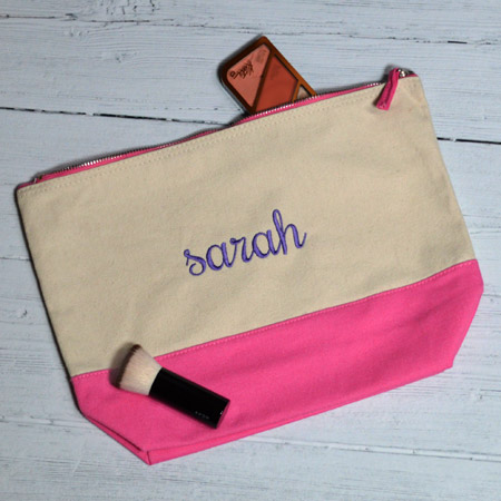 Personalised Canvas Accessory Bag