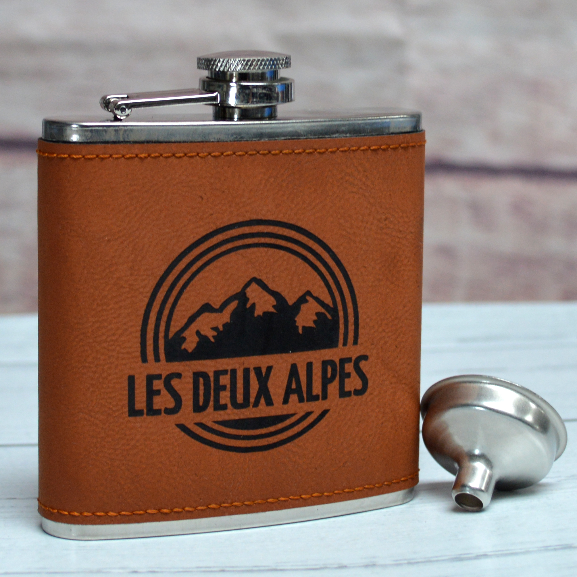 Personalised 6oz Leather Hip Flasks