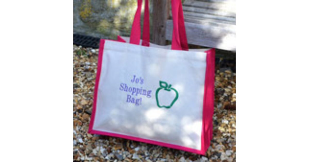 Design Your Own Personalised Embroidered Shopping Bag ...