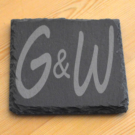 Natural Edged Slate Coaster
