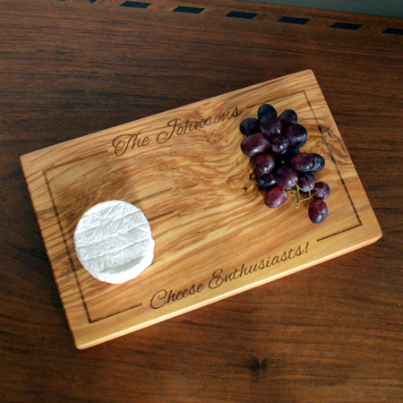 Engraved Olive Wood Platter / Board
