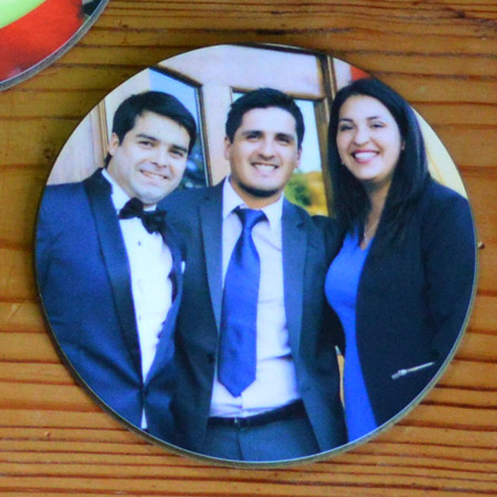 Round Personalised Printed Coaster