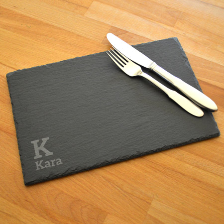 Natural Edged Slate Placemat