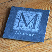 Engraved Smooth Slate Coaster