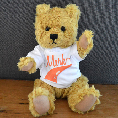 Personalised Jointed Bear in T-Shirt