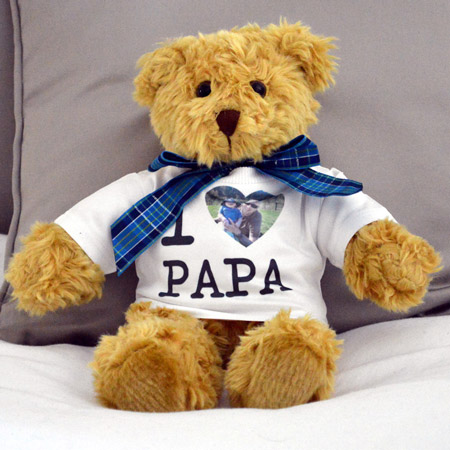 Personalised Brown Bear in T-Shirt