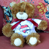 Personalised Fluffy Bear in T-Shirt