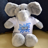 Personalised Stuffed Elephant in T-Shirt