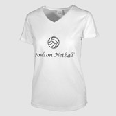 Personalised Womens V-Neck Sports Shirt Printing